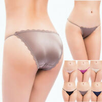 NEW Women Lace Ice Silk G-String Thongs Panties T-back Underwear Lingerie Briefs