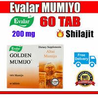 🔥 🔥 🔥 EVALAR MUMIJO (MUMIYO MUMIO) | 60 TAB 200mg | GOLDEN MUMIJO | SHILAJIT