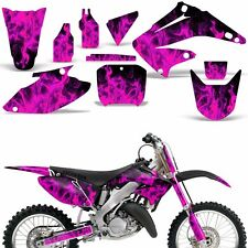 Graphic Kit Honda CR125 CR250 Dirt Bike Decal Backgrounds Sticker 04-08 ICE PINK