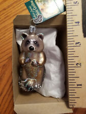Raccoon Ornament Glass Raccoon Old World Christmas 12146 13