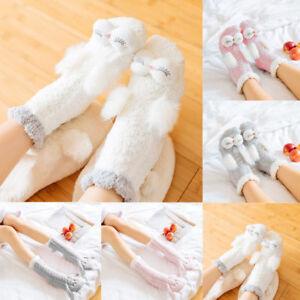 Ladies Women Girls Soft Fluffy Socks Warm Winter Cosy Lounge Bed Socks HOT UK