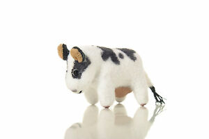"""World of Miniature Bears By Theresa Yang 1"""" Cotton Cow #6002  Cow CLOSING"""