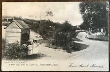 Vintage 1905 Provincetown Ma. postcard Old Well On Court St. 2 little girls UDB
