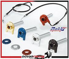 Acelerador rápido alu Robbymoto RME kit completo cables de trenza BMW S1000RR 09
