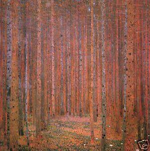 gustav klimt FOREST  painting art  Print  choose  canvas or satin photo