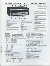 *COPY* Sherwood SEL-400 Stereo Amplifier/Amp Service Manual Fold-Out Schematic