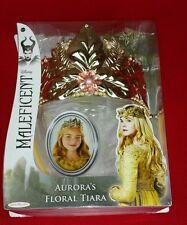 NEW Disney Movie Maleficent Princess Aurora floral tiara costume Dress up crown