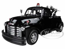 1953 CHEVROLET 3800 TOW TRUCK PLAIN BLACK 1/24 DIECAST MODEL CAR BY WELLY 22086