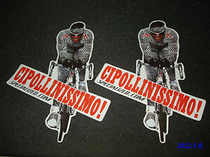 2 AUTHENTIC MARIO CIPOLLINI CIPOLLINISSIMO TOUR DE FRANCE STICKERS / SPECIALIZED