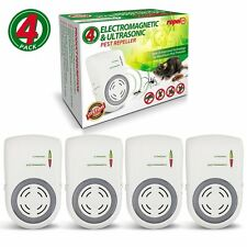 Lot of 4 Ultrasonic Pest Repeller Plug In, Dual-Technology Pest & Rodent Control