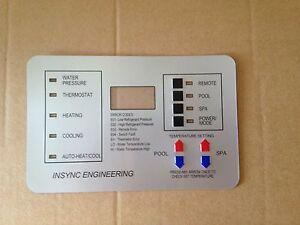 COMPATIBLE W/ older Pentair Heat Pump Keypad Switch overlay 472734 473425 473693