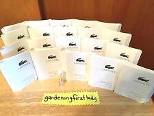 Lacoste L.12.12 Blanc Eau De Toilette Men's 2 ml .06 fl oz 20 Samples Splash NEW