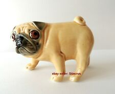 Pug (Mops) dog Author's Porcelain figurine + Gift Box. NEW 2019