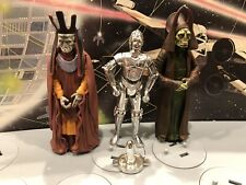 """Star Wars TC-14 Protocol Droid, Nute Gunray Loose* 3.75"""" Lot Of 3"""