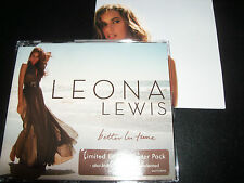 Leona lewis Better In Time Australian 4 Track Cd Single Poster Limited Edition