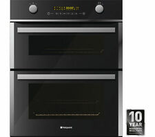 Hotpoint UBZ8910CK Built Under Electric Double Oven - Black and Stainless Steel