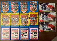(15)-TOPPS DESERT STORM (1991) STICKERS WAX PACKS CARDS UNOPENED+(2003) FREEDOM
