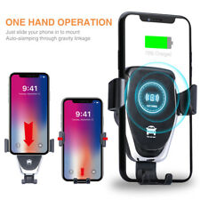 10W QI Wireless Fast Charger Car Mount Holder Stand For iPhone XS Max XR 8 Plus