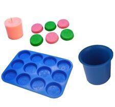 Set x 2, Christmas Design Wax Melt Tart Tray & Votive Candle Mould. S7726