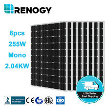 Renogy 8 Pcs 250W Watts 2KW 24V Mono Solar Panel for Off/On Grid System