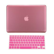 """2 in 1 PINK Rubberized Case for Macbook Pro 13"""" A1425 Retina display + Key Cover"""