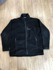 Mens Zip Up Fleece Jacket XL Extra Large Berghaus Black B6060