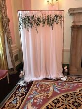 Hire! Rose Gold Frame Wedding backdrop add flowers and draping