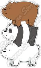 "We Bare Bears Funny Cartoon Car Bumper Vinyl Sticker Decal 3""X6"""