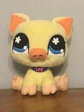 "Littlest Pet Shop 2007 9"" Yellow Pig Plush Stuffed Animal Preowned"