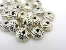 20 Pcs - Tibetan Silver Doughnut Style Nest Spacer Beads Jewellery Beading H190