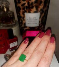 Glamouröser Smaragd Solitär Ring Gold quadratisch