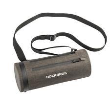 RockBros Bicycle Handlebar Frame Bag Waterproof Cylinder Bag Black Gold 2L