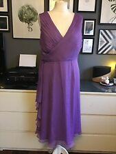 Teatro 16 Dress Lilac Wedding Guest Chifon Midi Flattering Mother Of