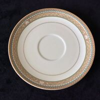 MIKASA ISLE TAUPE SHELL COASTAL THEME 1 SAUCER SOLD INDIV 2 AVAIL #L3209SEASHORE