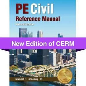 PE Civil Reference Manual - Hardcover By Lindeburg PE, Michael  R. - VERY GOOD