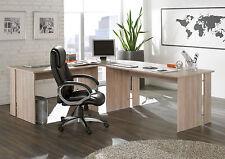 10150SE1+10120SE1E / Büromöbel Schreibtisch Eckschreibtisch Winkel Eiche Sonoma