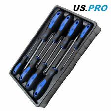 US PRO Tamperproof TORX Magnetic Screwdriver Set Star Set T8-T40 8pc 1608