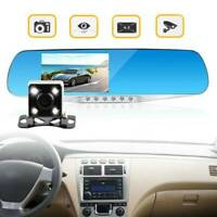Car DVR HD 1080P Dual Lens Mirror Dash Cam CAR Recorder+Rear View Camera Cam