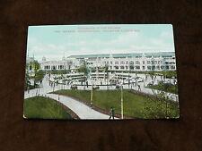 Old Postcard: Imperial International Exhibition London 1909 Promenade in Gardens
