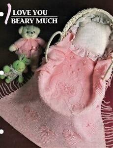 I Love You Beary Much    Annie's Attic Crochet Afghan Pattern Leaflet    Rare