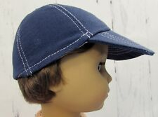 "Blue Baseball Hat fits American Girl Dolls 18"" Dolls - Fits Logan - Boy Dolls"