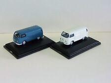 2 oxford diecast vw volkswagen vans pastel white and regatta blue 00 gauge
