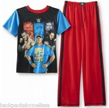 WWE John CENA Roman Reigns Randy Orton Pajamas Boy's 10/12  NeW Shirt Pants Pjs