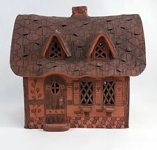 Vintage Terracotta Cottage House Candle House Garden Pottery Decor 0061010