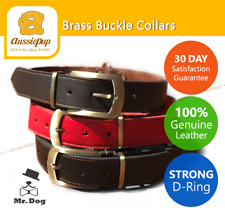 Mr Dog Strong Brass Buckle D-Ring Genuine Leather Designer Quality Large Giant