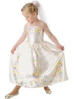 Cinderella Movie Wedding Dress Child Girls Disney Princess Fancy Dress Costume