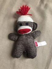 2012 Schylling Collectible Mini Plush Sock Monkey Baby 7 inch Stuffed Monkey