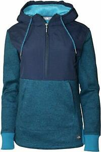 THE NORTH FACE Tech SHERPA PULLOVER Zip FLEECE Hood JACKET Coat WOMENS sz MED XL