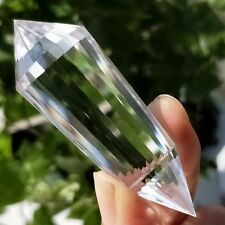 39g 24 Sided Natural Clear Double Terminated Vogel Inspired Crystal Wand L4693