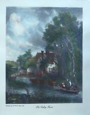 """""""The Valley Farm"""" and """"The Country Cottage"""" Set of 2 pastoral Old World prints"""